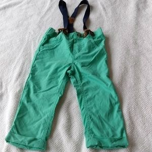 Baby Cat & Jack Green Suspender Pants Size 18m